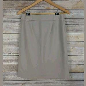 J Crew Beige Pencil Skirt in Wool Crepe 91380
